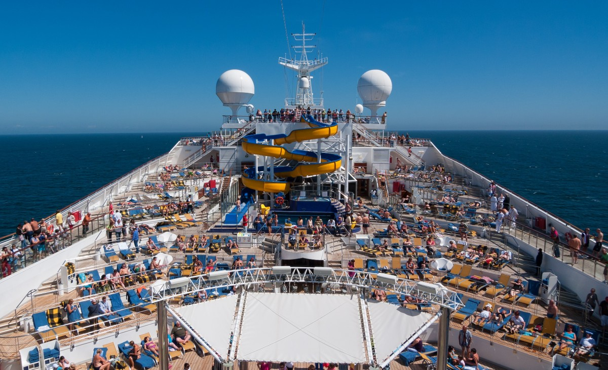 a cruise ship top deck